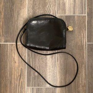 Brahmin Black Leather Crossbody Bag